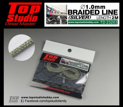 Braided Line Silver 1,0mm - Top Studio