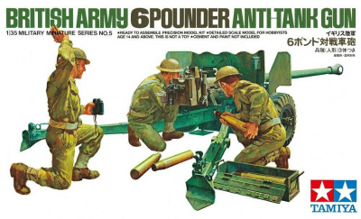 British Army 6 Pounder Anti-Tank Gun 1/35 - Tamiya