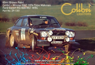 Brown Paint for Ford Escort MKI RS1600 (Colibri Lighters) 60ml - Zero Paints