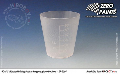Calibrated Measuring/Mixing Beakers - 1 pcs x 60ml - Zero Paints