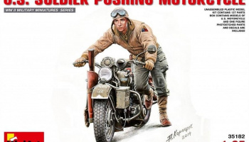 1/35 U.S.Soldier Pushing Motorcycle