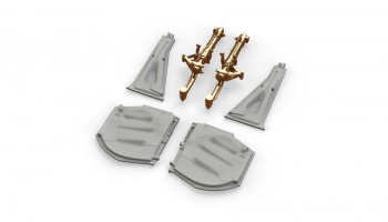1/48 P-51D undercarriage legs BRONZE for EDUARD kit