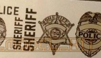 Shields & Stars Silver/Black Sheriff & Police Decals - Chimneyville