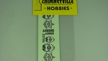 Shields & Stars White/Black Sheriff & Police Decals - Chimneyville