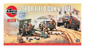 Classic Kit VINTAGE military A01305V - 25pdr Field Gun & Quad (1:76)