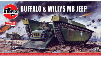 Classic Kit VINTAGE military A02302V - Buffalo Willys MB Jeep  (1:76) - Airfix