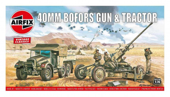 Classic Kit VINTAGE military A02314V - Bofors 40mm Gun & Tractor (1:76)