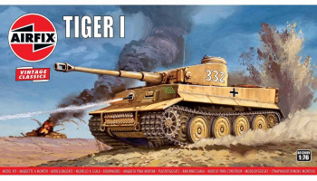 Tiger 1 (1:76) Classic Kit  VINTAGE A01308V - Airfix
