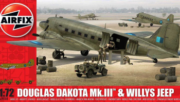 Classic Kit letadlo A09008 - Douglas Dakota MkIII with Willys Jeep (1:72)