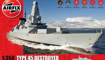Classic Kit loď A12203 - Type 45 Destroyer (1:350)- Airfix