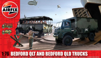 Bedford QLD/QLT Trucks Classic Kit military (1:76) - Airfix