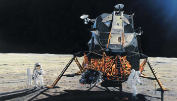 One Step for Man 50th Anniversary of 1st Manned Moon Landing (1:72) Classic Kit A50106 - Airfix