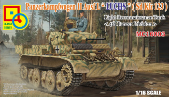 "PzKpfW II Ausf.L ""Luchs"" (Sd Kfz 123) Light Reconnaissance Tank <4th Panzer Division> 1/16 - Classy Hobby"