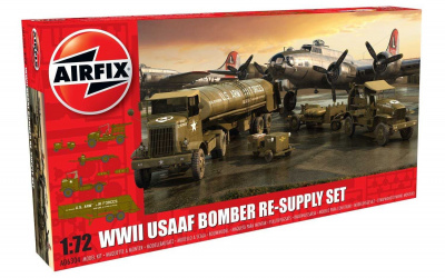 Classic Kit diorama A06304 - USAAF 8TH Airforce Bomber Resupply Set (1:72) – Airfix