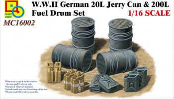 WWII German 20L Jerry Can & 200L Fuel Drum Set 1/16 - Classy Hobby