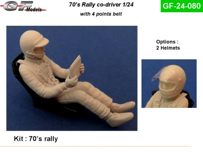 Co-driver Figure Rally 70s 1/24 - GF Models