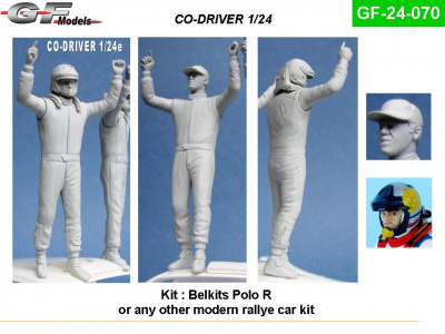 Co-Driver Figure WRC PoloR 1:24 - GF Models