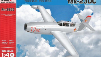 1/48 Yak-23 DC (Dubla Comanda) training fighter