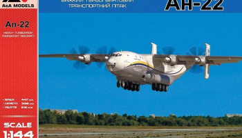 1/144 An-22 Heavy turboprop transport airliner