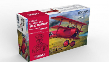 "1/32 Fokker Dr.I Triplane ""Red Baron"" includes a 1/10 resin bust - Meng"