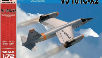 1/72 VJ 101C-X2 Supersonic-capable VTOL fighter