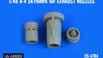 1/48 A-4 Skyhawk IDF exhaust nozzles for HOBBY BOSS kit