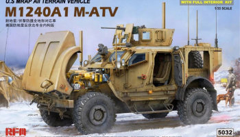 U.S MRAP All Terrain Vehicle M1240A1 M-ATV With full interior 1/35 - RFM