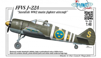 1/48 FFVS J-22A Swedish WWII main fighter aircraft