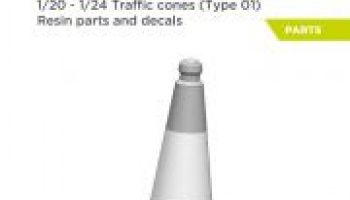 Traffic cones 1/24 - Decalcas