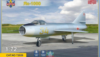 1/72 Yak 1000 Supersonic demostrator