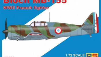 1/72 Bloch MB-155 WWII French fighter