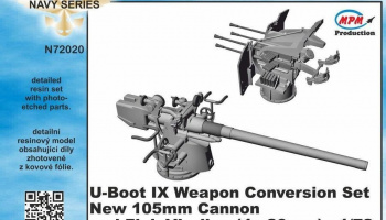 1/72 U-Boot IX Weapon Conversion set new 105mm can