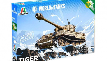 Easy to Build World of Tanks 34103 - Tiger (1:72) – Italeri