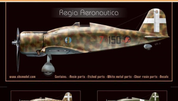 1/72 Fiat G.50 Freecia 'Regia Aeronautica' - Resin+PE+decal - Full resin kit