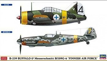 B-239 Buffalo & Messerschmitt Bf109G-6 'Finnish Air Force' 1/72 - Hasegawa