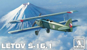 1/72 Letov S-16 1 Prague-Tokyo-Prague Plastic kit with PE parts