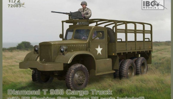 1/72 Diamond T 968 Cargo Truck with M2 Machine Gun (Bonus PE parts included!)