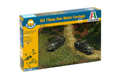 Fast Assembly military 7510 - M3 75mm HALF TRACK (1:72)