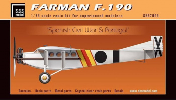 1/72 Farman F.190 ' Spanish Civil War & Portugal' - Resin+PE+decal - Full resin kit