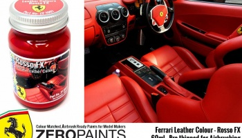Ferrari Leather Colour Paints RossoFX - Zero Paints