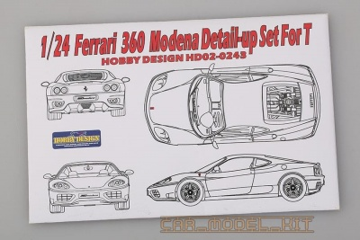 Ferrari 360 Modena Detail-up Set For T - Hobby Design