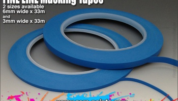 Fine Line Masking Tape - 6mm x 33m - Zero Paints