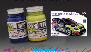 Ford Focus RS WRC 2010 Paint Set for Simil'R Kit 2x30ml - Zero Paints