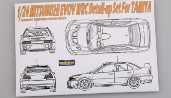 Mitsubishi EVOV WRC Detail-up Set - Hobby Design