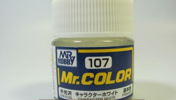 Mr. Color C 107 - Character White Semi Matt - Bílá, figury polomatná - Gunze