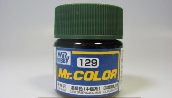 Mr. Color C 129 - Dark Green (Nakajima) - Tmavě zelená - Gunze