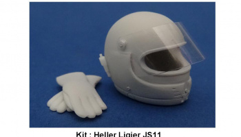 Helmet GPA, Gloves  Ligier JS11 1/12 - GF Models