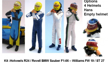 Driver Figure Sauber, Williams, Peugeot 908 1/24 - GF Models