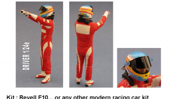 Driver Figure Alonso 1/24 - GF Models