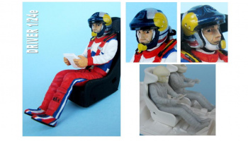 Co-Driver Figure WRC 1:24 - GF Models